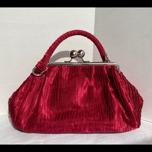 Unlisted Red Satin Small Evening Bag